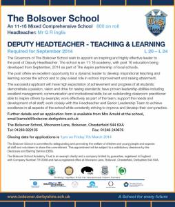 The Bolsover School - Deputy Headteacher