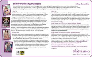 Bravissimo - Senior Marketing Managers