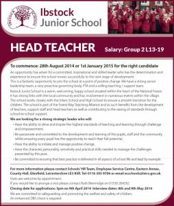 Ibstock Junior School - Head Teacher