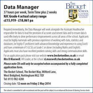 The Becket School - Data Manager