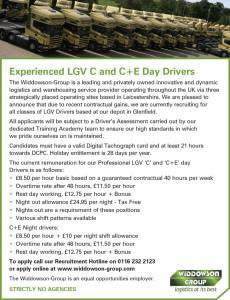 Widdowson Group - Experienced Drivers